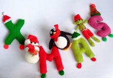 Christmas, Xmas alphabet, handmade, knitted, noel gift Stock Image