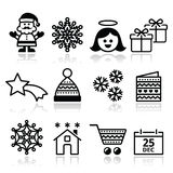 Christmas, Xmas celebrate icons set Stock Photo