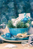 Christmas xmas eve table board setting stock images