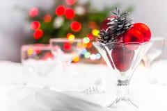 Free Christmas Xmas Eve Table Setting Royalty Free Stock Images - 35446429