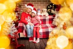 Christmas Xmas Family Holiday Winter Royalty Free Stock Photos