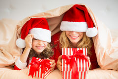 Christmas Xmas Family Holiday Winter Stock Photo