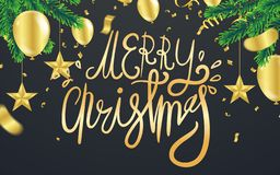 Christmas. Xmas holiday lettering design, typography as banner,. Greeting card, gift package etc royalty free illustration