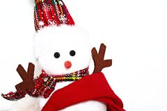 Christmas puppet picture, Christmas puppet image. Christmas puppet  on white background.christmas symbol Royalty Free Stock Photo