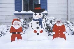 Christmas Yard Decorations, St. Louis, Missouri Stock Photos