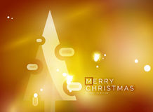 Christmas yellow abstract background  Stock Images
