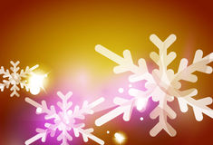 Christmas yellow abstract background Royalty Free Stock Photography