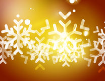 Christmas yellow abstract background  Stock Image
