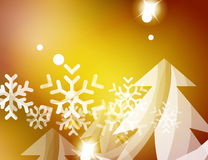 Christmas yellow abstract background with white Royalty Free Stock Images