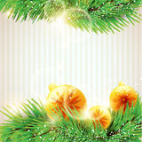 Christmas yellow balls. Stock Image