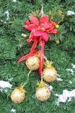 Christmas yellow balls Royalty Free Stock Photos