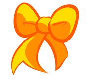 Christmas Yellow Bow Stock Images
