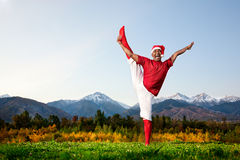 Christmas yoga Royalty Free Stock Photography