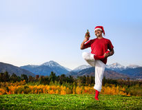 Christmas yoga Royalty Free Stock Image