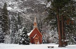 Christmas in Yosemite Royalty Free Stock Images