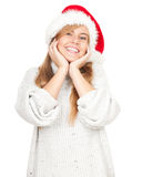 Christmas young woman Royalty Free Stock Photo