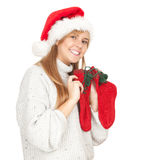 Christmas young woman Royalty Free Stock Images