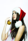 Christmas young woman Royalty Free Stock Photography