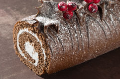 Christmas Yule Log Close Up Royalty Free Stock Photography