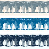 Christmas Yuletide Winter Trees Banners Stock Photo