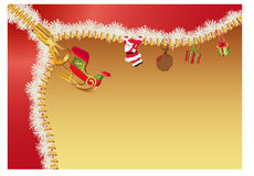 Christmas zipper Stock Images