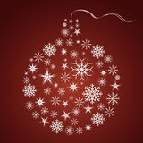 Christmasball. An abstract background with a christmas ball Royalty Free Stock Photos