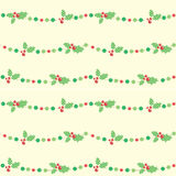 ChristmasBerries. Seamless background with christmas berries Stock Photos