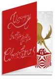 Christmascard印刷术,手写,五颜六色,神秘 库存图片