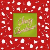 Christmascard印刷术,手写, cutted 库存图片