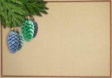 Christmascard de Retrostyle Foto de archivo libre de regalías