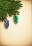 Christmascard pasado de moda Imágenes de archivo libres de regalías
