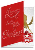 Christmascard typography, handwriting, colorful, enigmatic Stock Image