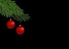 Christmasdecoration på svart Royaltyfri Bild