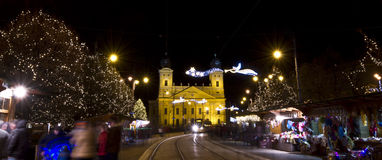 Christmasfair in Debrecen Royalty Free Stock Images