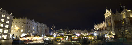 Christmasfair on Market place in Krakow Royalty Free Stock Photos