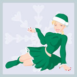 ChristmasGirl Immagine Stock