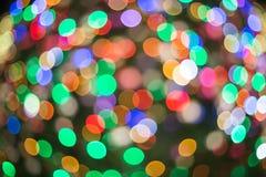 Christmaslight多颜色摘要bokeh背景  免版税库存图片