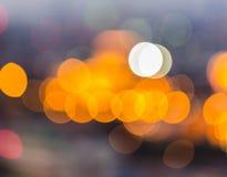 Christmaslight abstrakt rund bokehbakgrund Arkivbilder