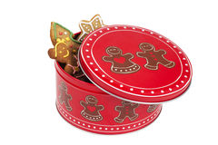 Christmasly Cookie Box Stock Photography