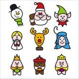 Christmaspeople1 stock de ilustración