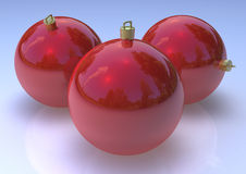 ChristmasRed  Balls Stock Photos