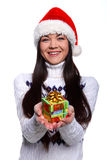 christmass女孩 库存照片