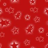 Christmass星重复无缝的样式红色背景 可以为织品,墙纸,文具使用,包装 皇族释放例证