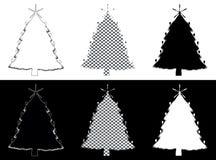 Christmass树由银器制成 库存图片