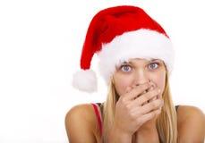 christmass γυναίκα Στοκ Φωτογραφία