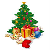 Christmass结构树 免版税库存图片