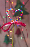 Christmass光和装饰 免版税库存图片