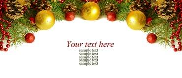 Christmass上面装饰 库存照片