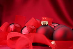 Christmass balls. Illustration of Christmass balls on red background Royalty Free Stock Photo
