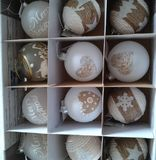 Christmass balls in the box Royalty Free Stock Photo